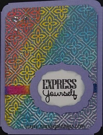 Faux Letterpress Card