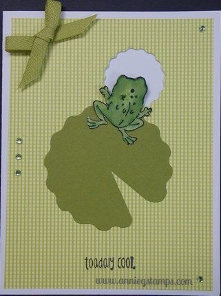 Toadally Cool Front & Back Card