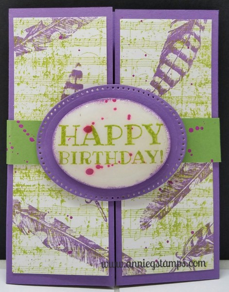 Happy Birthday Belly Band Card