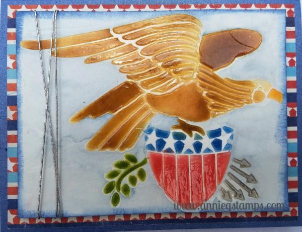 Eagle & Sheild Card