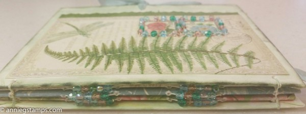 Fern Beaded Book Spine