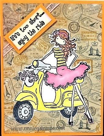 Vespa Girl Card