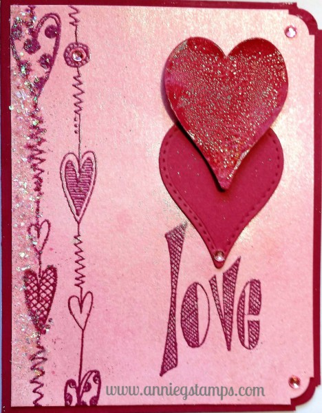Love & Hearts Card