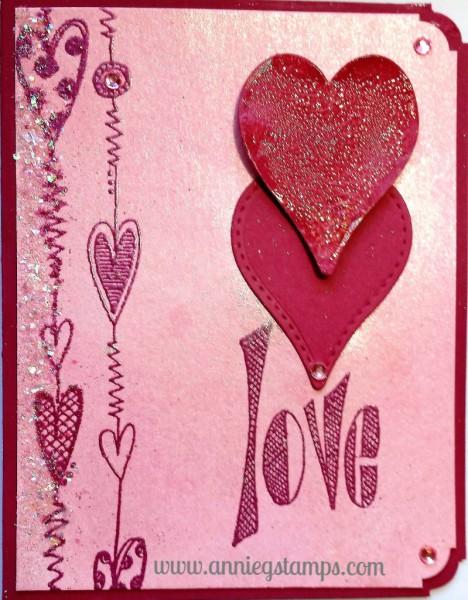 Love & Hearts Card
