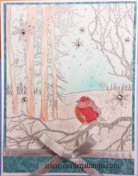 Winter Bird Card