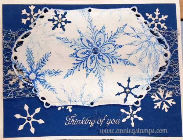 Snowflake Thinking of You Card