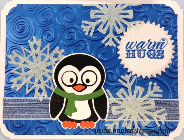 Penguin Warm Hugs Card