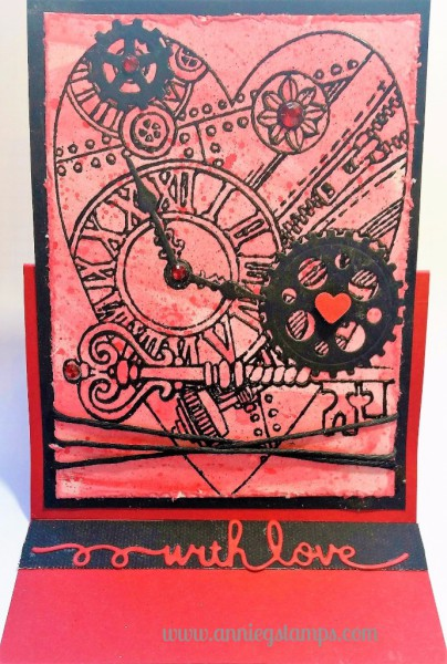 Steampunk Heart Stand-Up Card