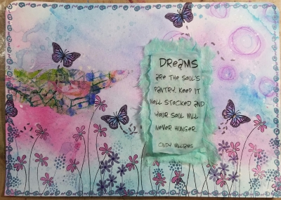 Dreams Art Journal Page