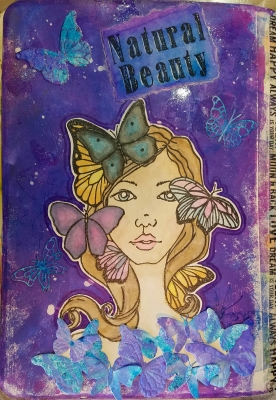 Natural Beauty Art Journal Page