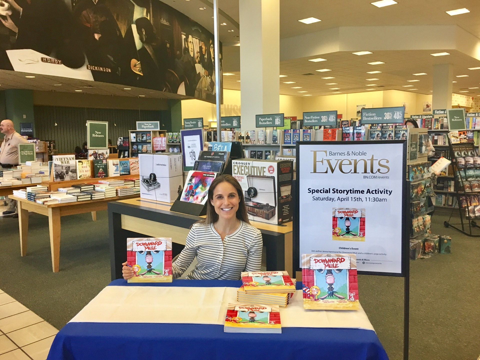 Jenna Hammond doing Barnes and Noble Author Event 4/15/17