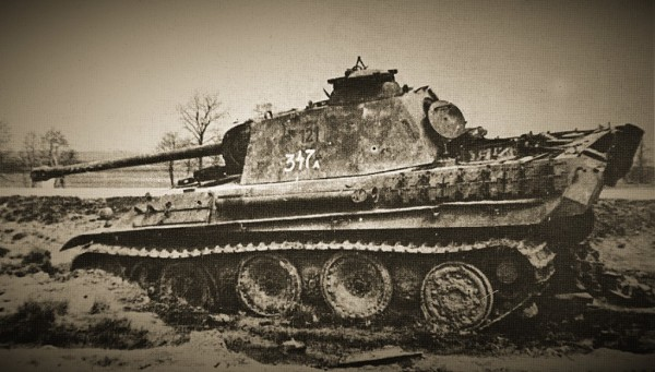 Panther 121 photgraphed by the Russian weapons assessment squad in April 1945