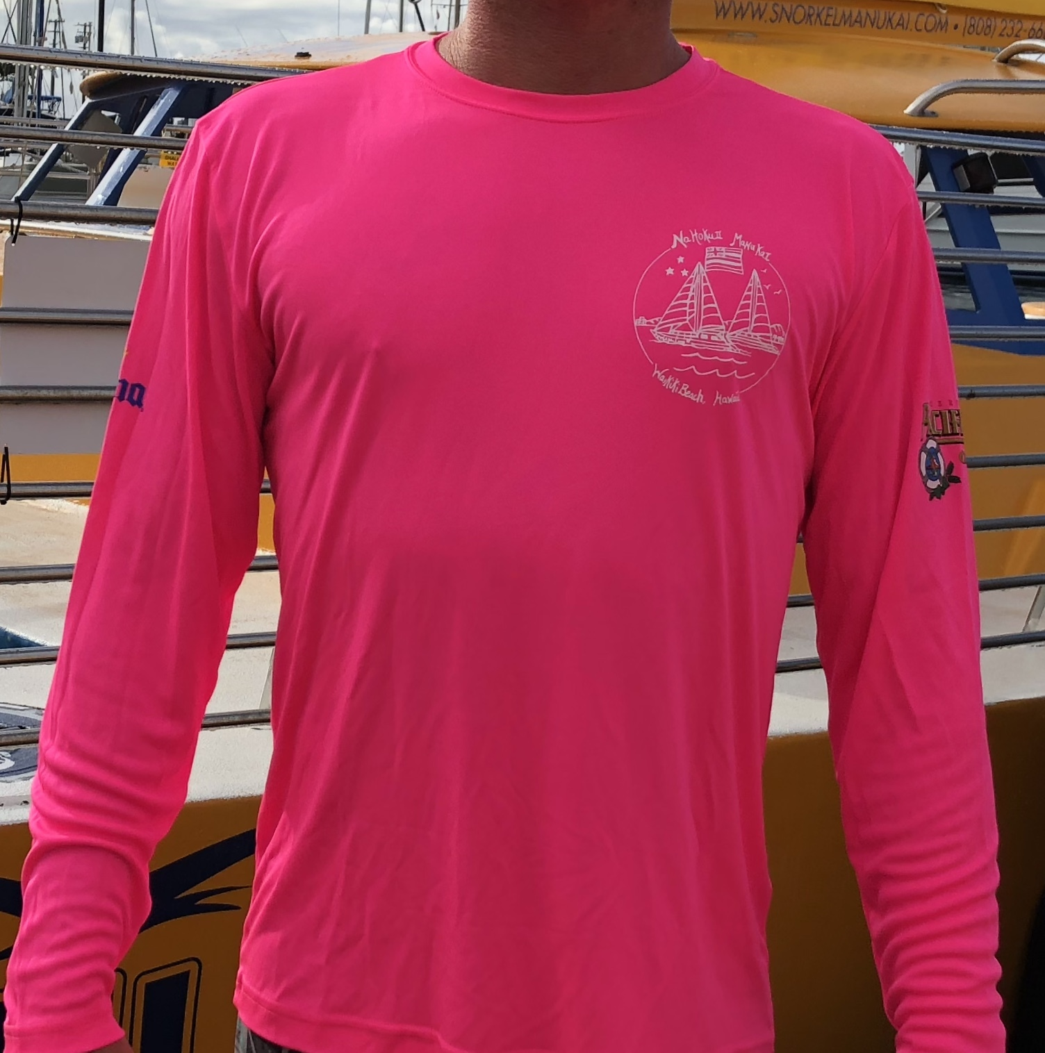 PINK DRY FIT CREW SHIRT