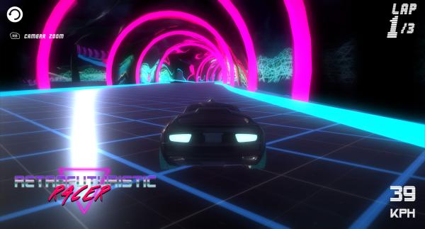 Retrofuturistic Racer