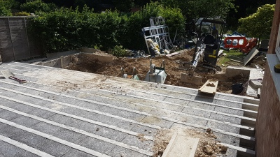 Farley Road Build Block and Beam Floor installation