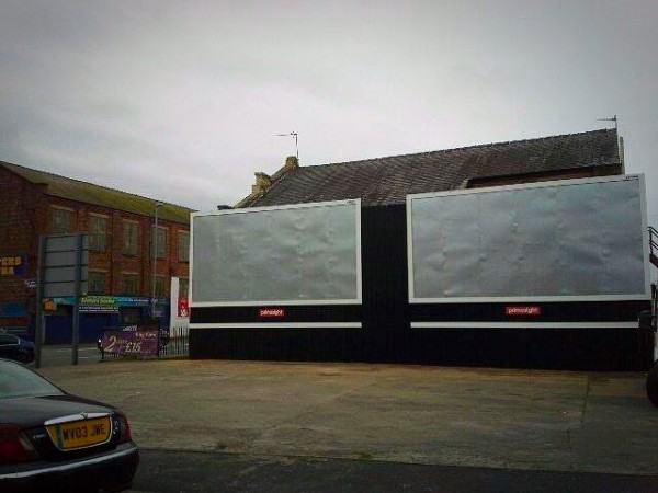 Rebuilding of advertising hoardings for Primesight - Watery Lane Preston