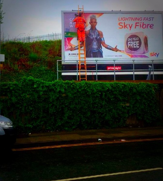 Primesight advertising hoarding - NW England