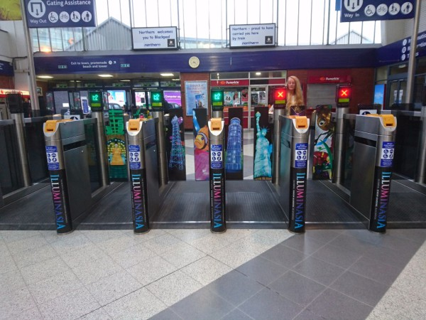 Blackpool North Station Ticket Gateways - Campaign 2016
