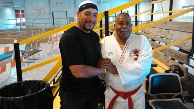 Sensei with Grandmaster Victor Moore