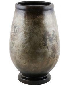 Antiqued Silver Pedestal Urn