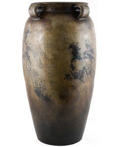 Antiqued Silver 4 handled Tonola Jar