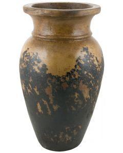 Textured Black Wide Opening Jar