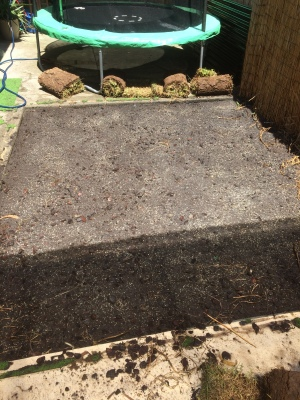 Another small turf job before