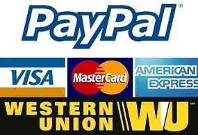 Paypal, Western Union and Direct Deposit Payment!