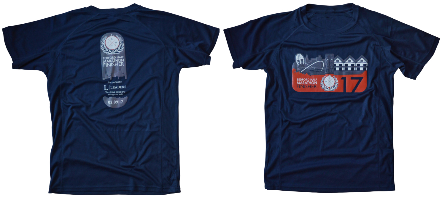 The Bedford Half Marathon & Finishers T-shirt