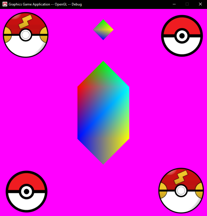 Game running with the gem in its default position.