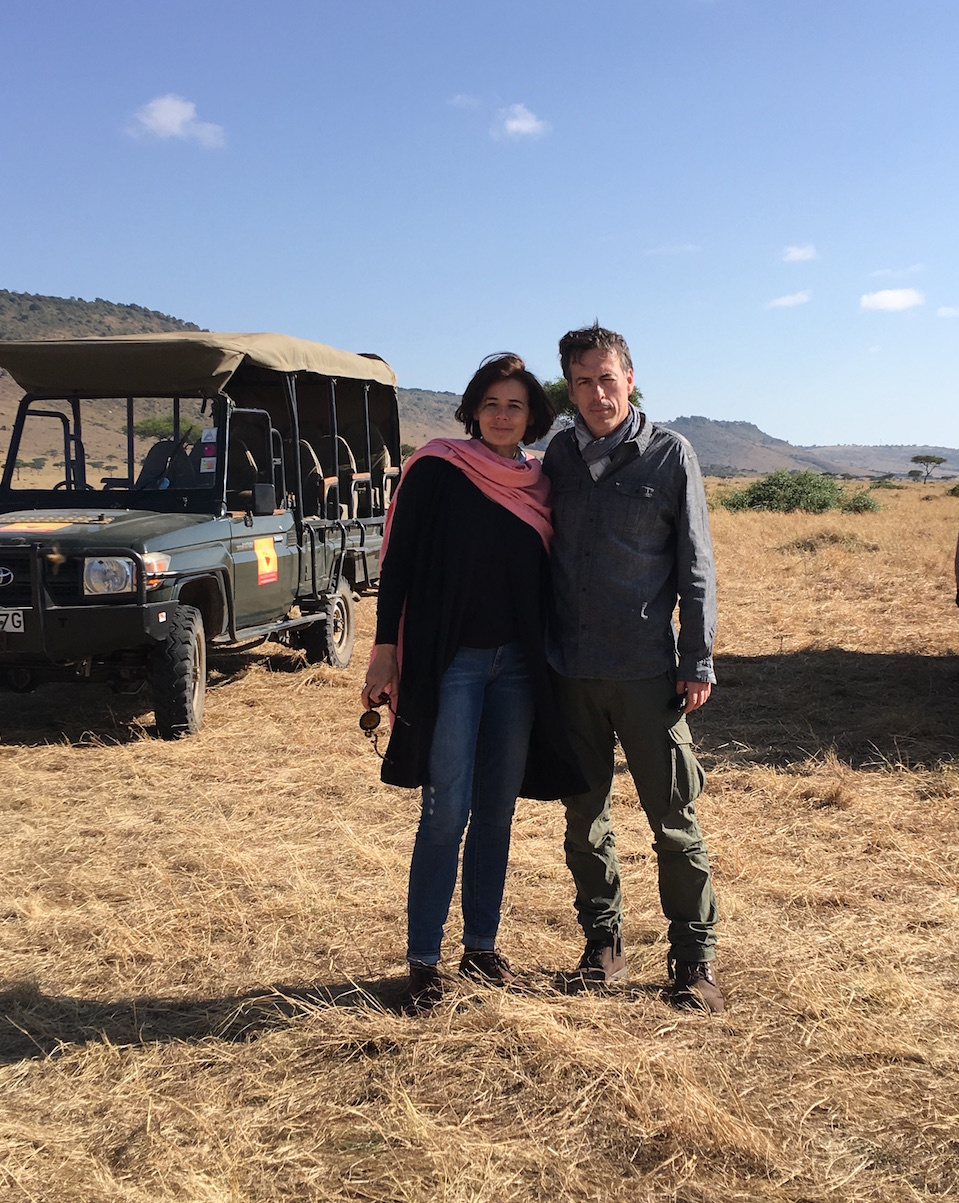 Mr S and I in Africa