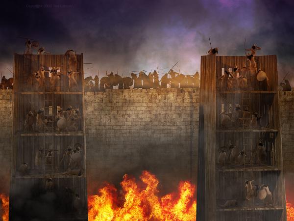 Siege, army, Nebuchadnezzar, Israel, wall, siege towers