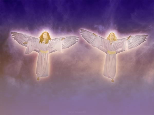 Women, wings, angels, basket, Shinar, Babylon