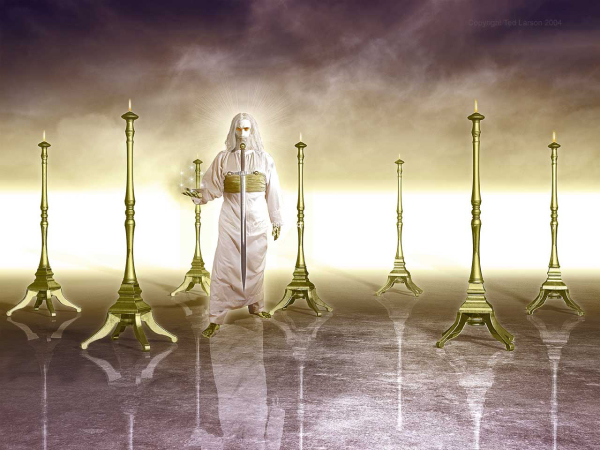 Vision, Revelation, Jesus, angel, lampstands, Asia, churches