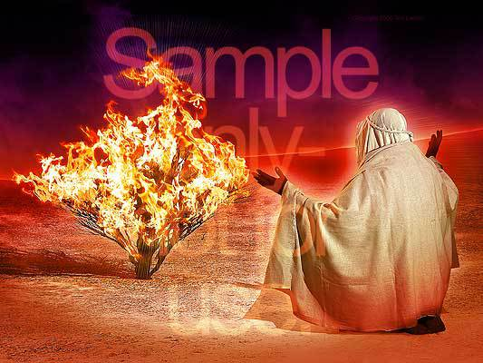 Burning Bush, Moses, Yahweh, G-D