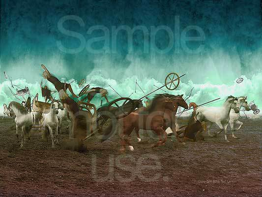 Red Sea, Pharoah, Moses, G-D, Chariots, horses