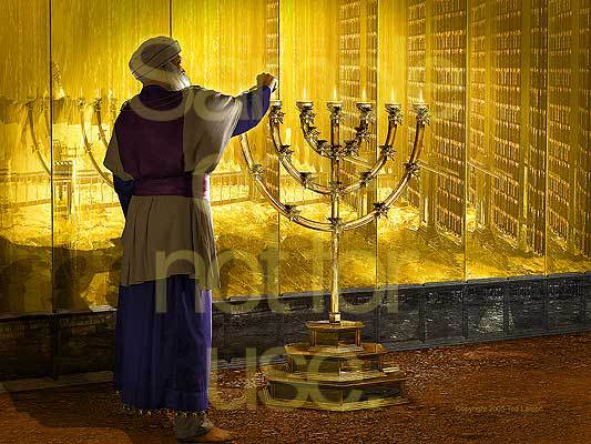 Aaron, high priest, lamp stand, tabernacle, G-D, Exodus