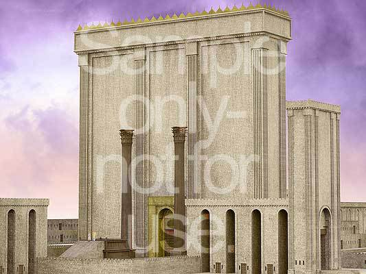 Temple, facade, angel, Ezekiel, G-D, prophecy