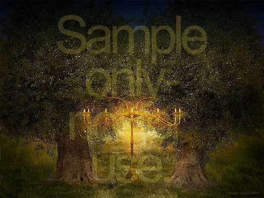Two olive trees, lamp stand, Zechariah, G-D, prophecy