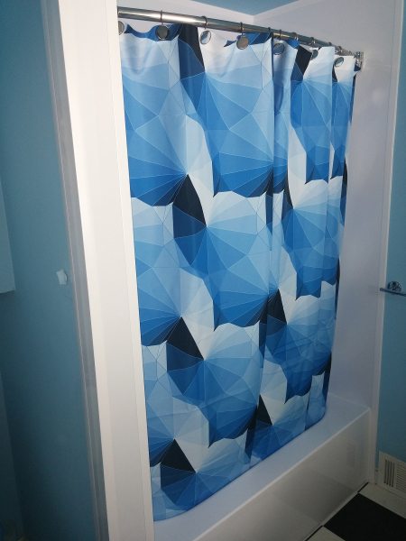 """Shower Curtain Design, Blue Bathroom"" 2016"