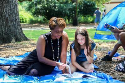 Reading in the Park organized by Palmetto Optimist Club
