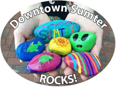 painted rocks for Flash Mob Rock Painting Party