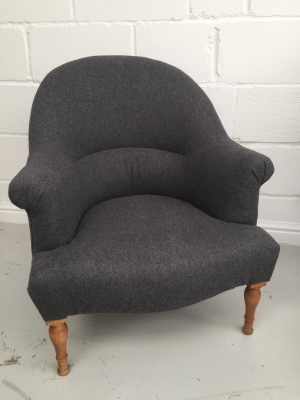 Traditional Napoleon armchair in Warwick Amatheon Armour wool