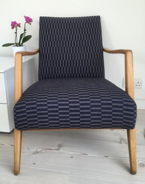 German Cocktail chair in Eleanor Pritchard Rowridge wool