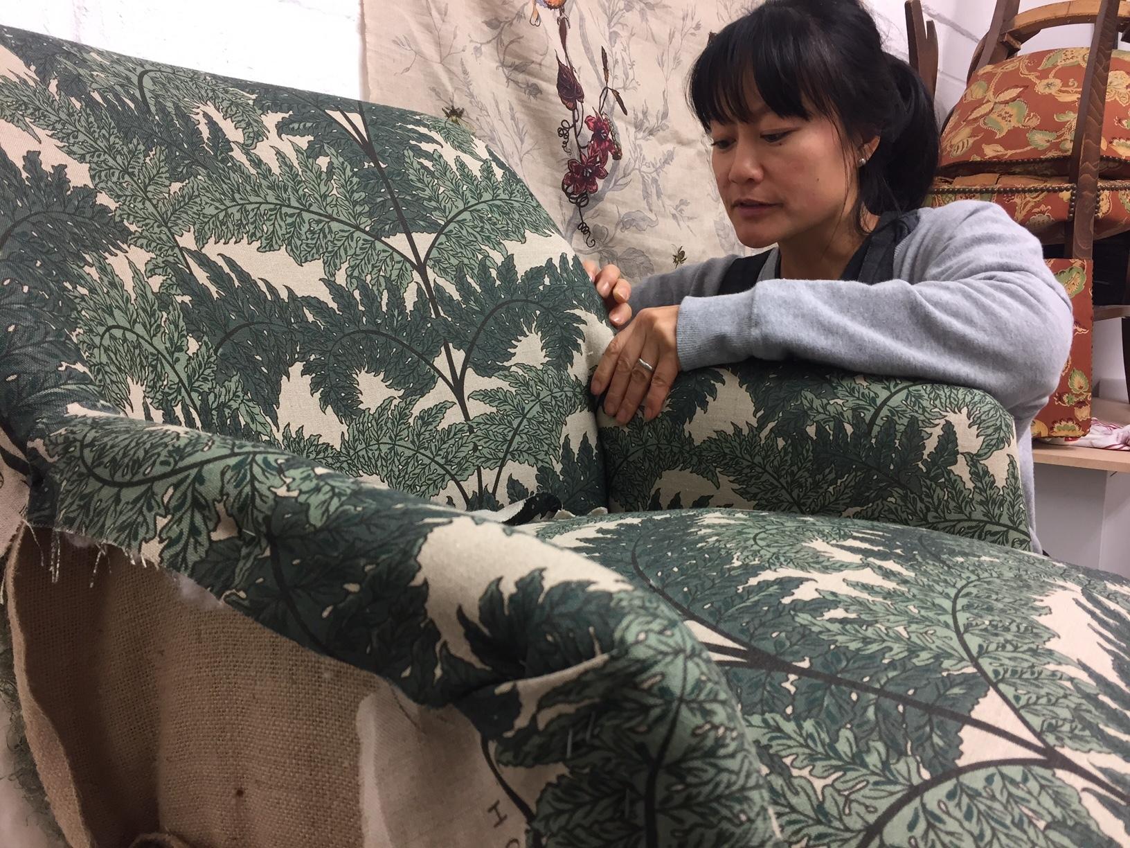 Lisa Yau-Alfredson in her Studio at Thames Side Studios, London
