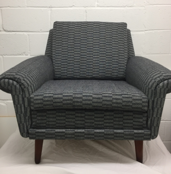 Mid Century Danish armchair in Eleanor Pritchard Rowridge wool