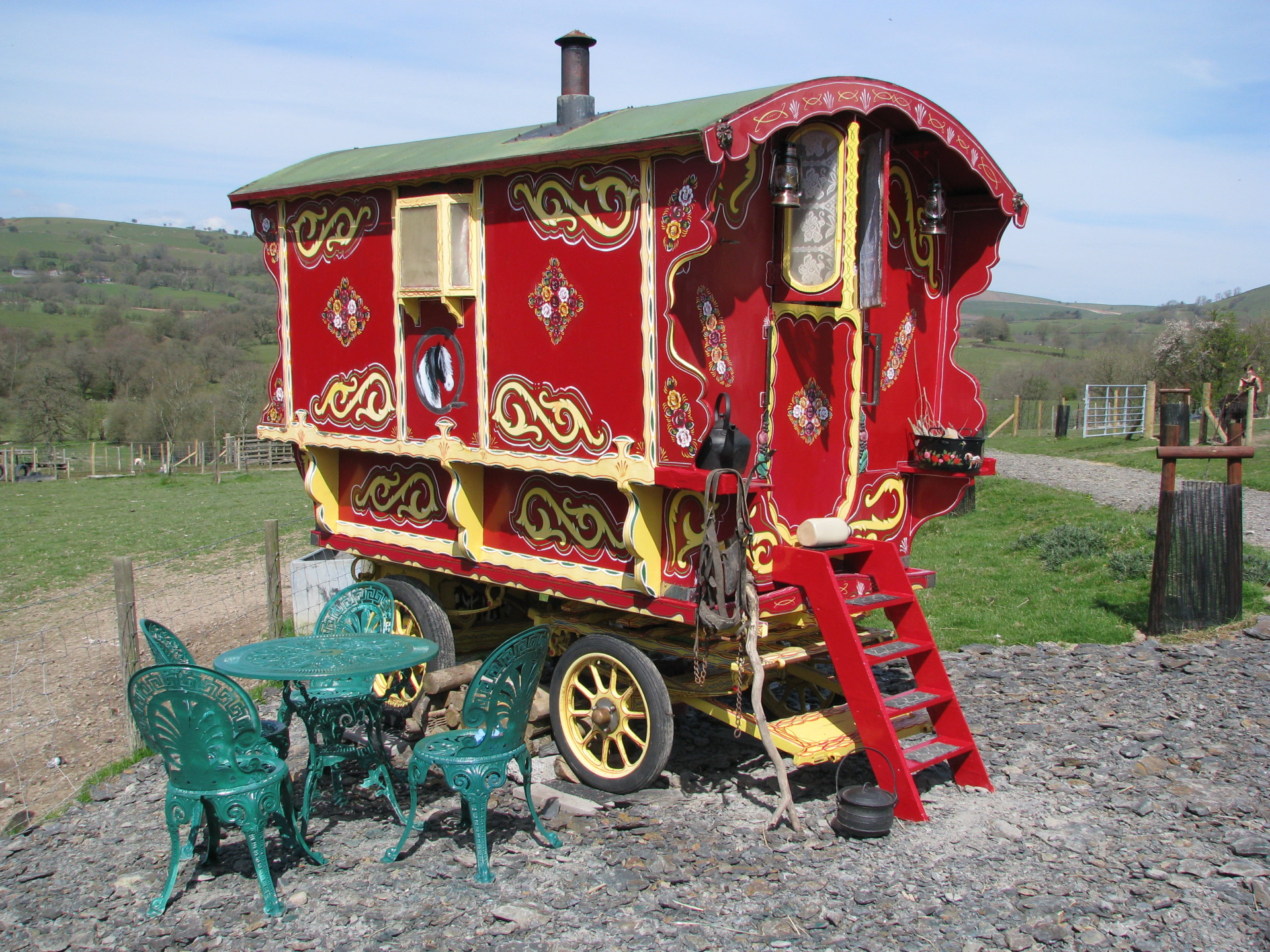 Gypsy caravan weekend break rhayader