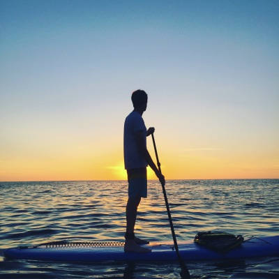 Eagle Home Inspections likes SUP in Southern California and Kona; it's good for business and family.