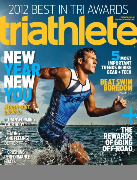 James hadley front cover, Triathlete Mag