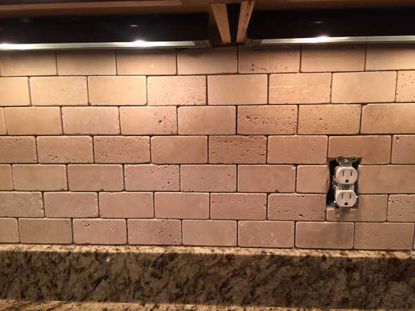 New Back Splash and Under Cabinet Lighting